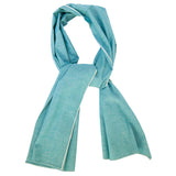 "The Hill-Side Scarf - ""Asagi"" Turquoise Selvedge Chambray"
