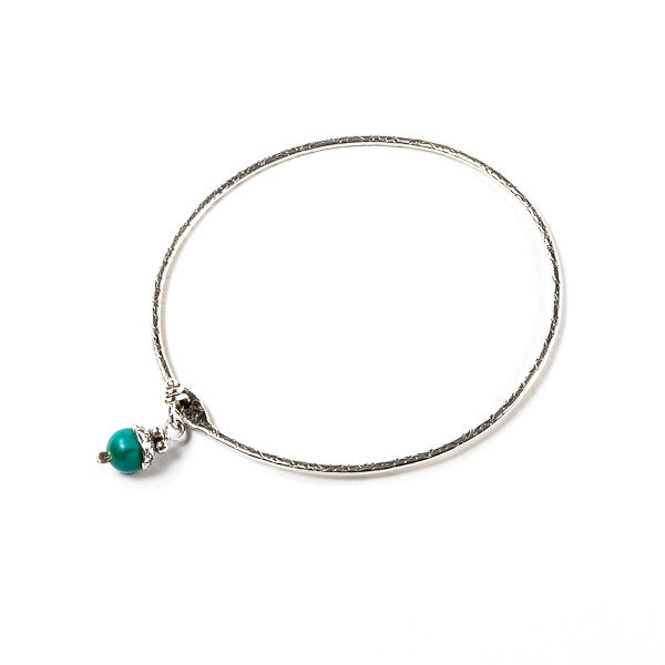 Acorn Bangle Bracelet - Turquoise