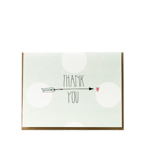"""Thank You"" Arrow Dot Card"