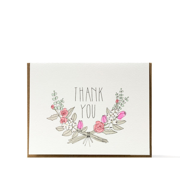 """Thank You"" Bouquet Card"