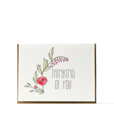 """Thinking Of You"" Bouquet Card"