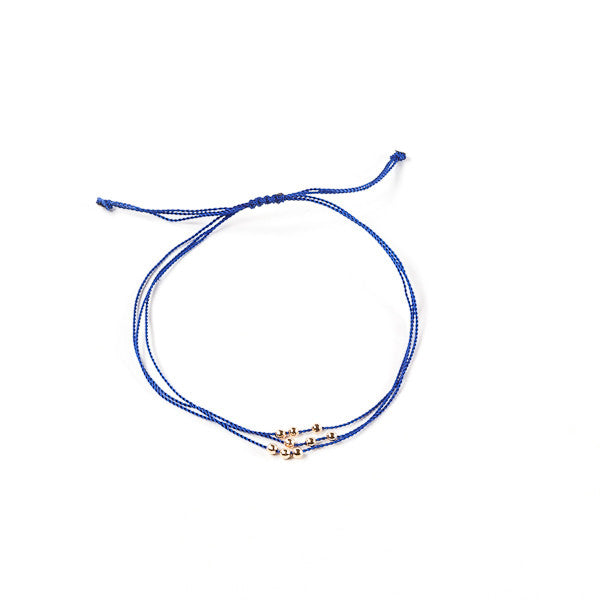 """Wish Me Luck"" Bracelet - Blue"