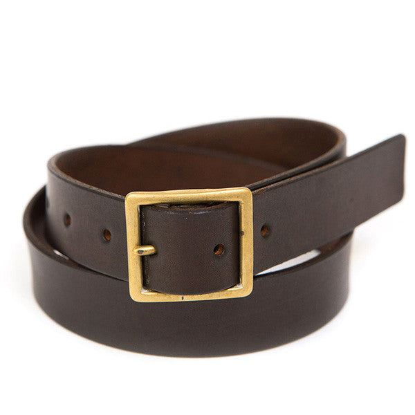 Handmade Leather Belt - Deep Chestnut