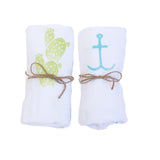 Set of 3 Hand-Printed Kitchen Towels