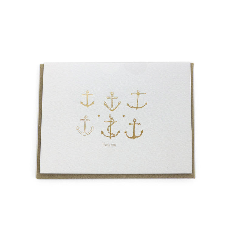 """Anchors"" Thank You Card"