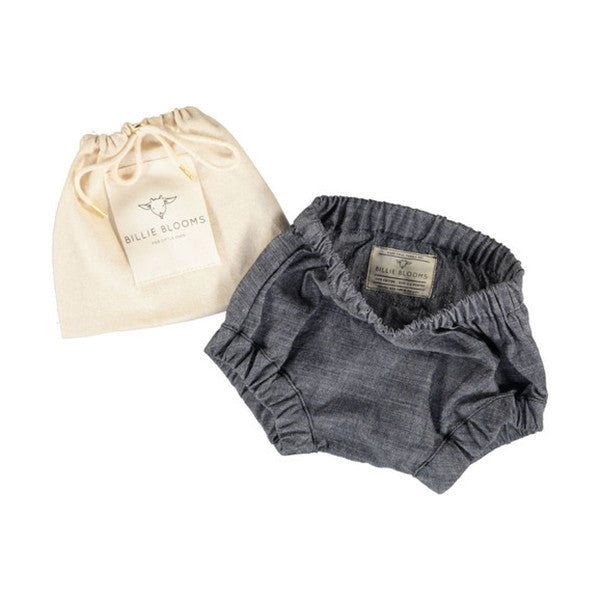 Black Chambray Baby Bloomers - Billie Blooms