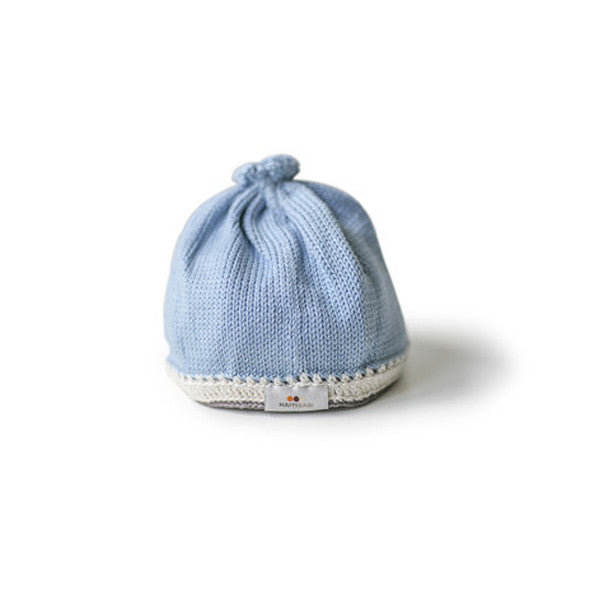 Knit Baby Hat - Light Blue