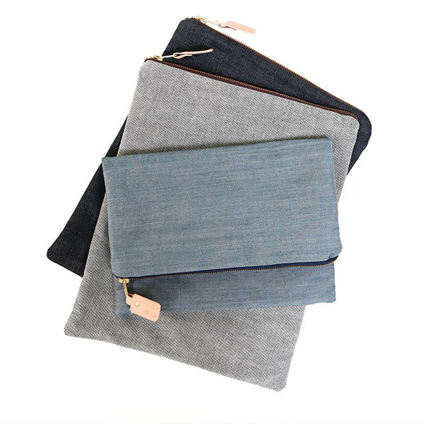 Selvedge Denim Large Pouch/Clutch