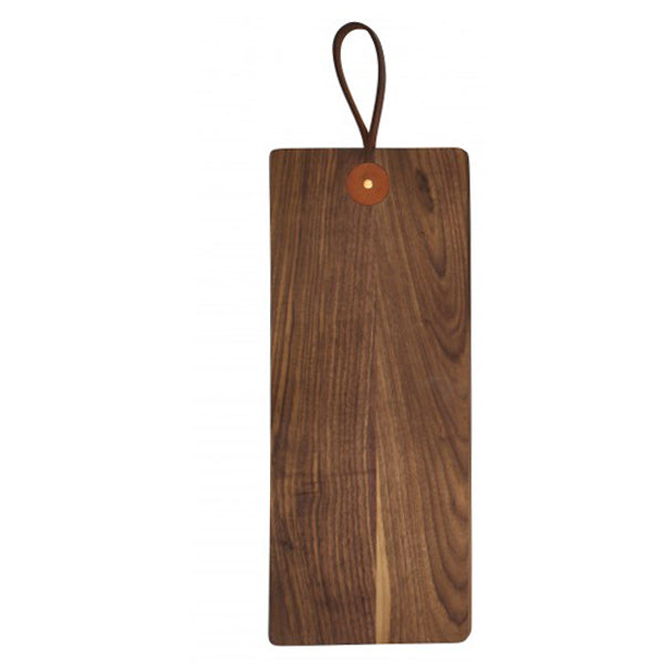 Leather Handle Cutting Board - Walnut