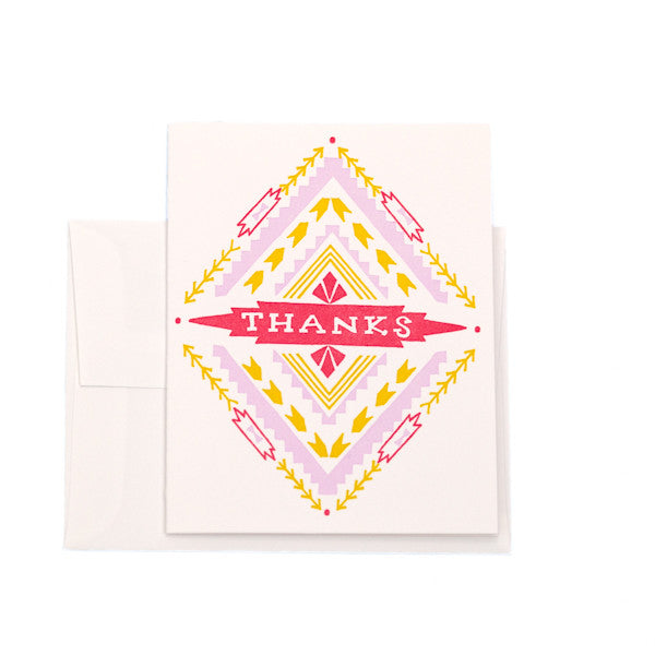 """Aztec Thanks"" Card"