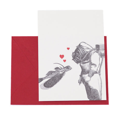 """A Love Aquatic"" Card"