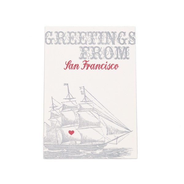 """Greetings From San Francisco"" Card"