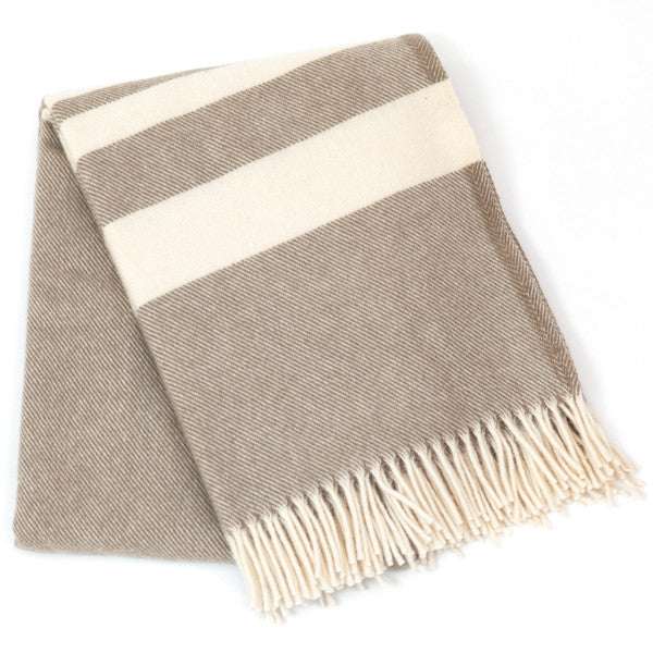 Lodge Stripe Throw - Natural