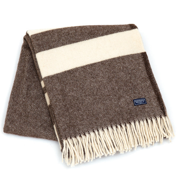 Lodge Stripe Throw - Coffee