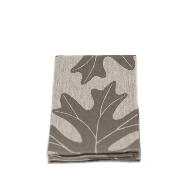 Linen Tea Towel - Oak Leaf
