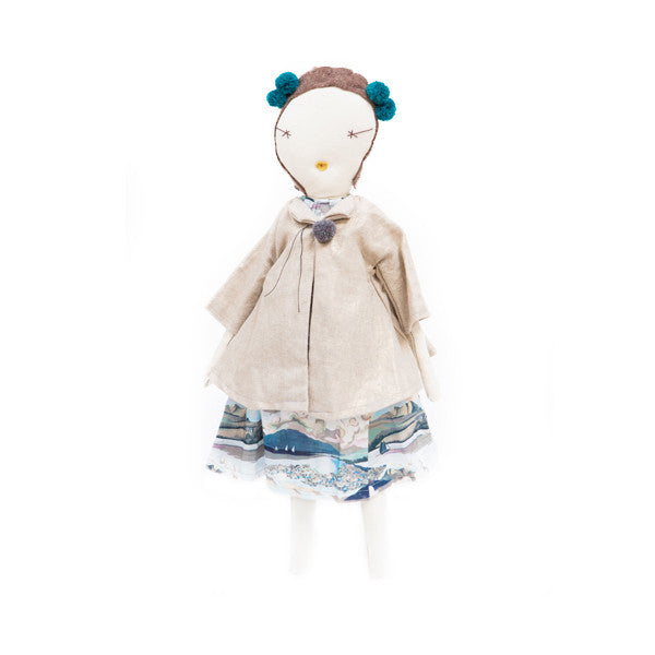 Jess Brown Rag Doll - Seaside Dress & Travel Coat