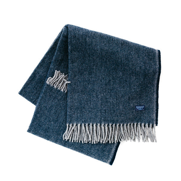 Ashby Twill Throw Blanket - Ink Blue