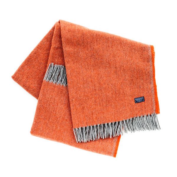 Ashby Twill Throw Blanket - Terra Cotta