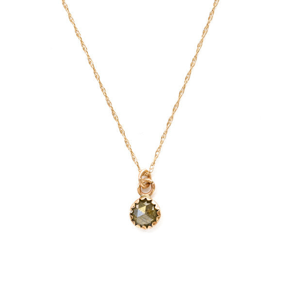 Natural Diamond Necklace - 14k Gold