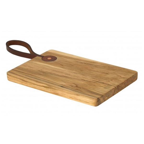 Leather Handle Cutting Board - Maple