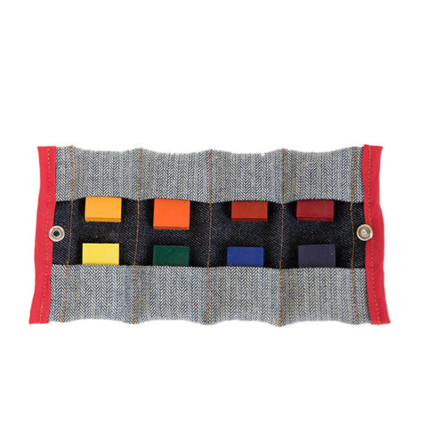 Color Block Crayon Wallet