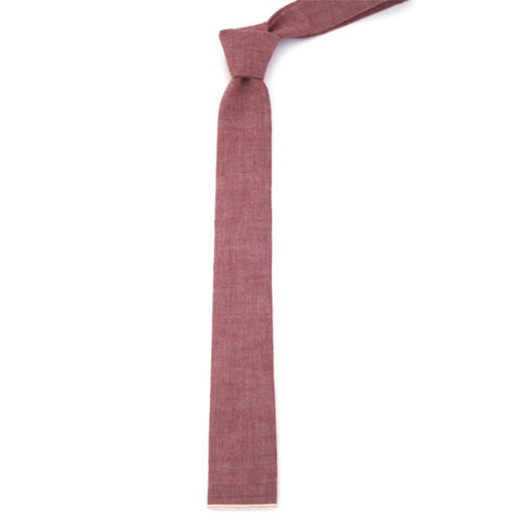 The Hill-Side Selvedge Chambray Tie - Red