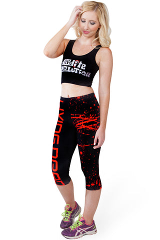 Purple Dragon Queen Full Active Tights and Inspirational Tank SET