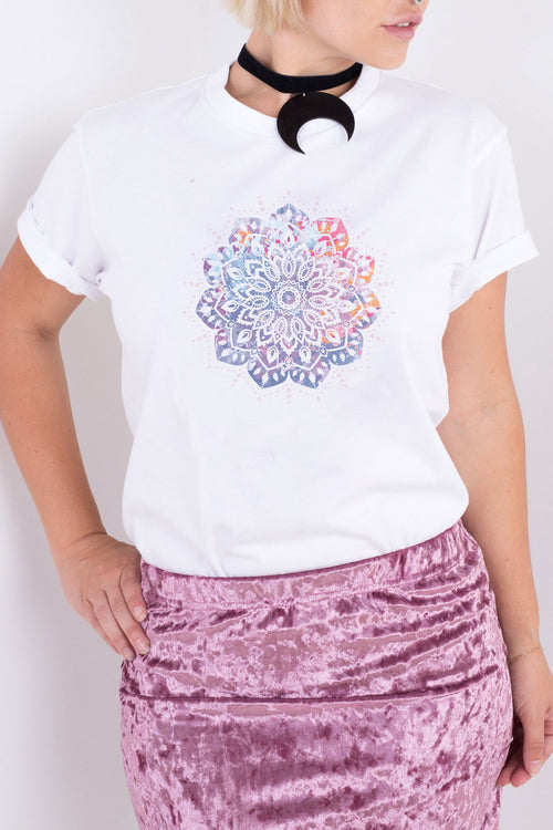 Watercolour Mandala Tee