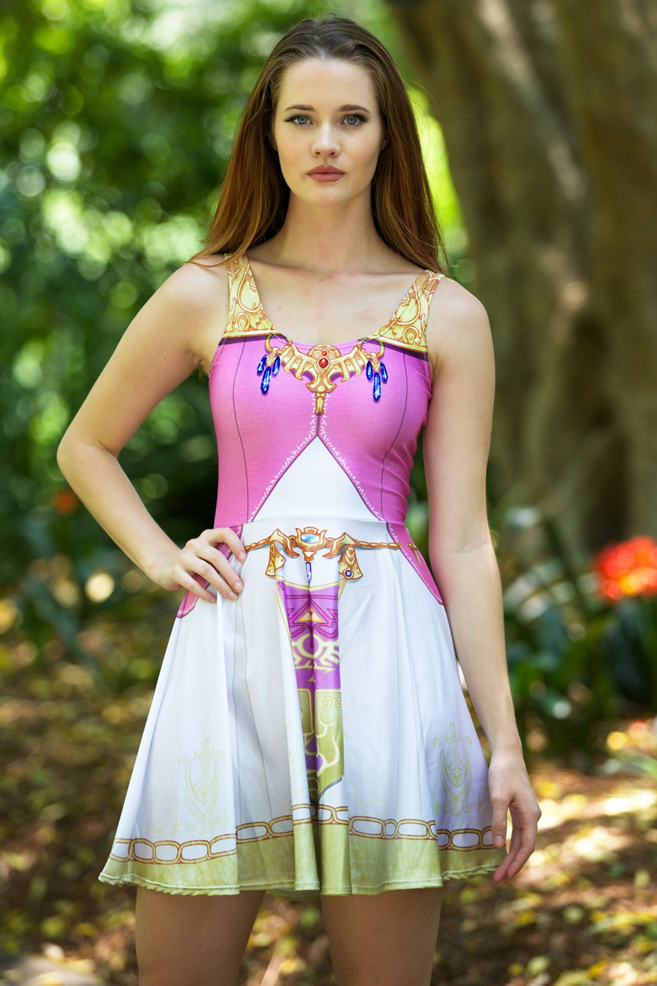 Zelda Cosplay Skater Dress Living Dead Clothing