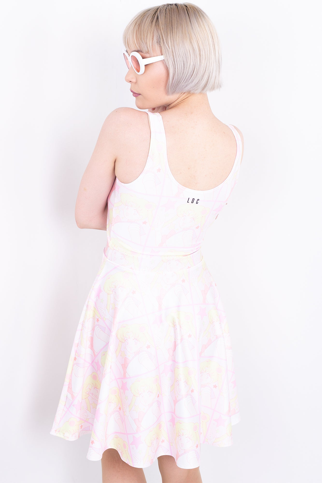 Tiled Moon Skater Dress