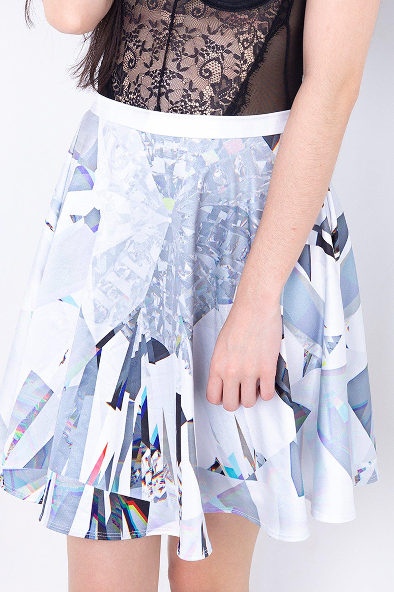 Diamond In The Rough Skater Skirt