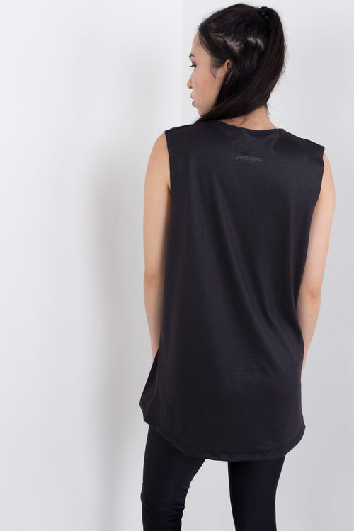 64 Console Black Sleeveless Tee