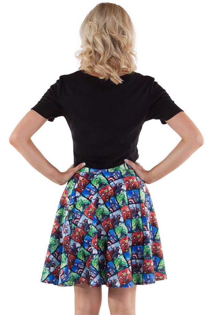 Earth's Mightiest Heroes Skater Skirt