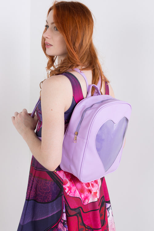 I Heart You Backpack- Purple