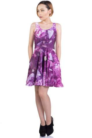 Amethyst Fairy Skater Dress