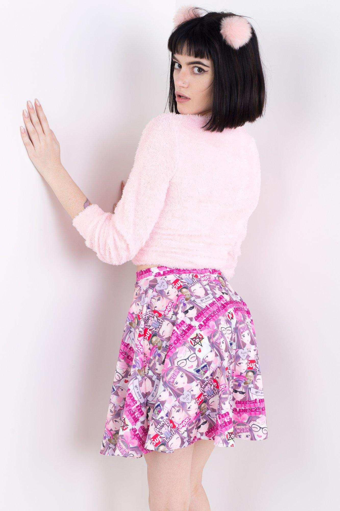 Anime Trash Skater Skirt
