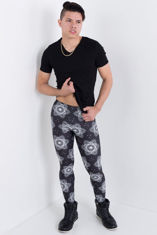 Abstract Arctic Leggings