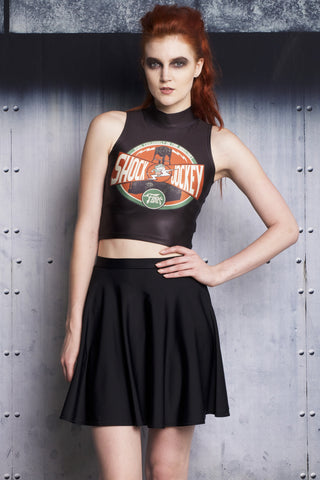 Kaleidoscopic High Crop and Skater Skirt Set