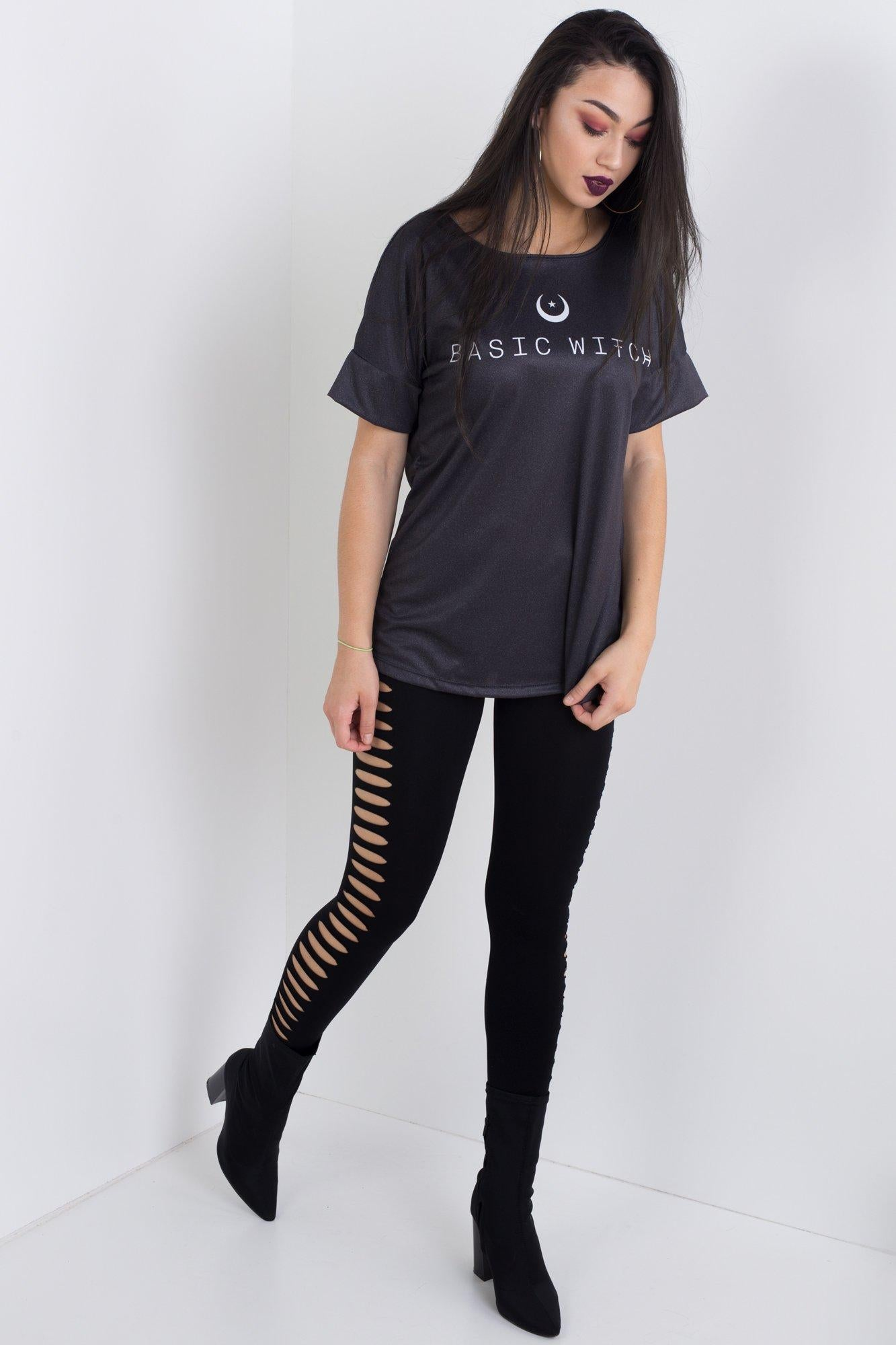 89396c901b Basic Witch Triple Threat Tee – Living Dead Clothing