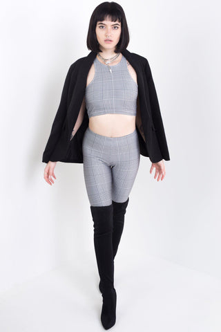 64 Console Black Leggings