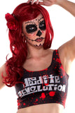 Black Splatter Deadite Revolution Crop Top - LIMITED