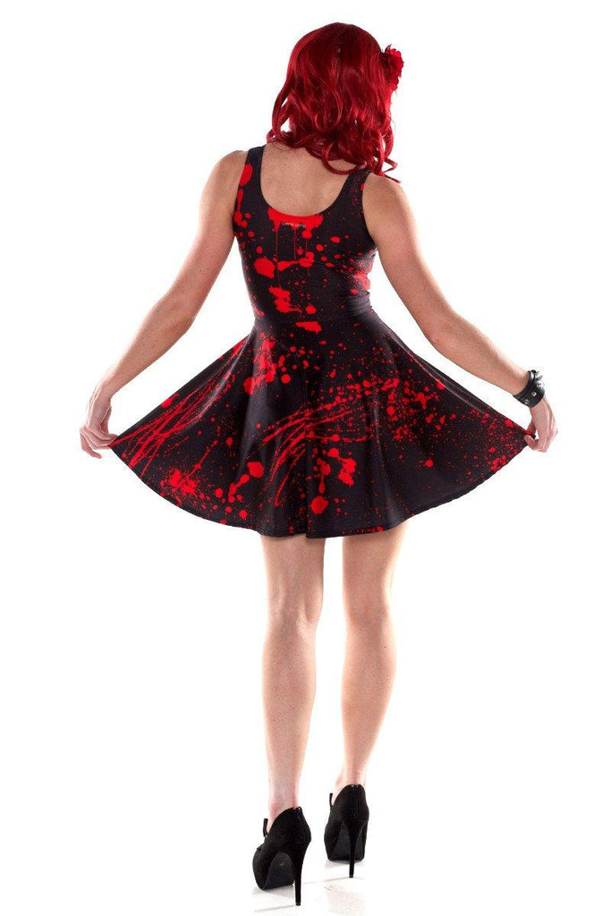 Black Splatter Skater Dress - LIMITED