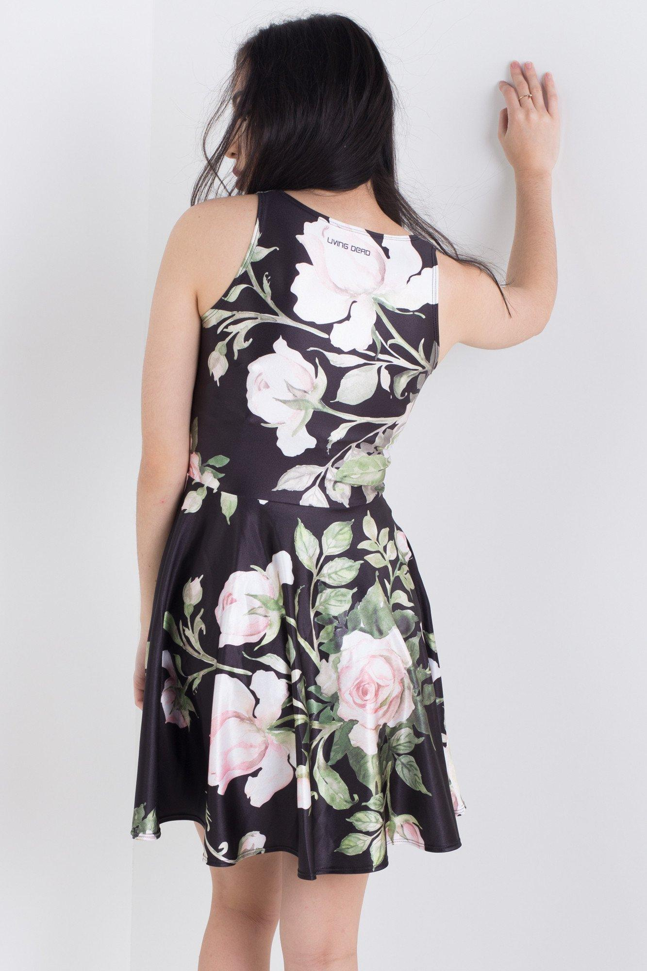 Blooming in Darkness Pocket Happy Hour Dress