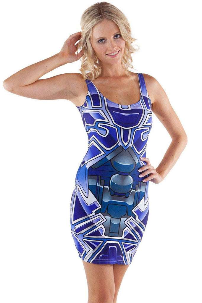 Blue Bionic Bodycon - LIMITED