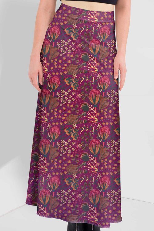 Bouquet Of Flowers Maxi Skirt