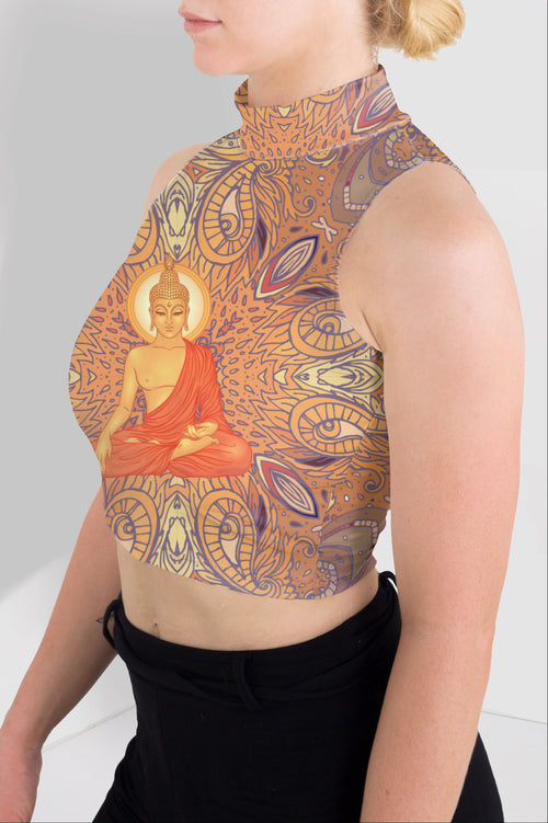 Buddha Mandala High Neck Crop