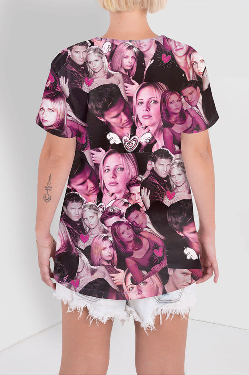 Buffy And Angel Collage Tee