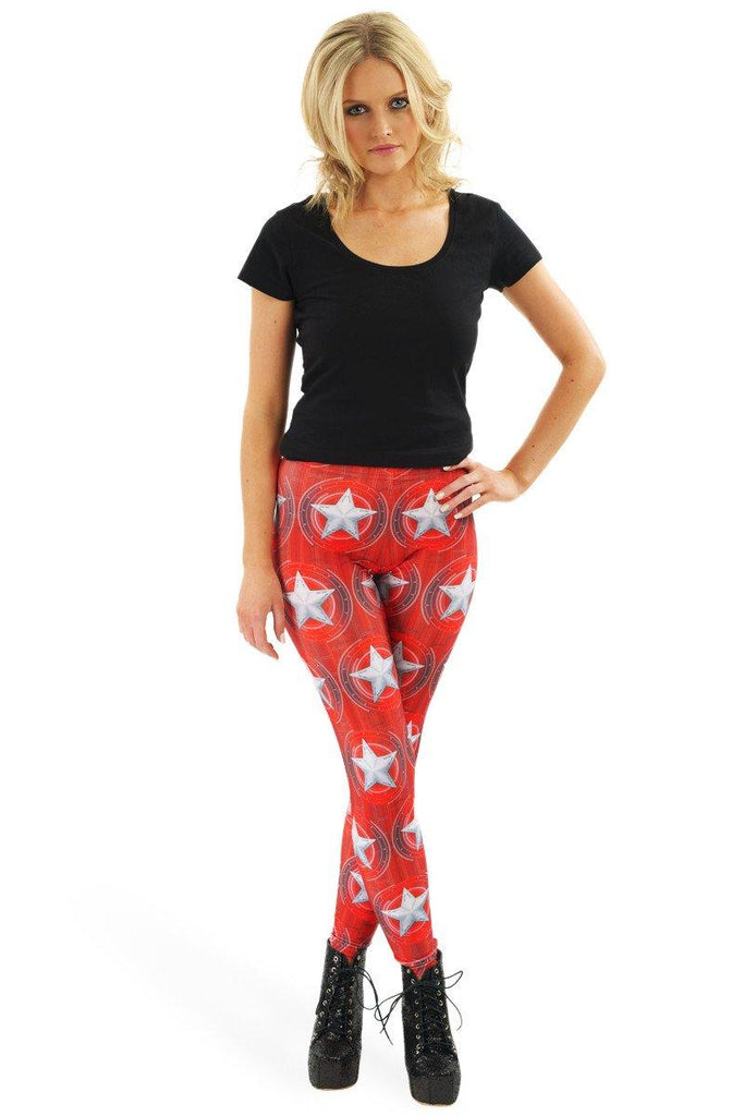 Captain Red Shield Leggings