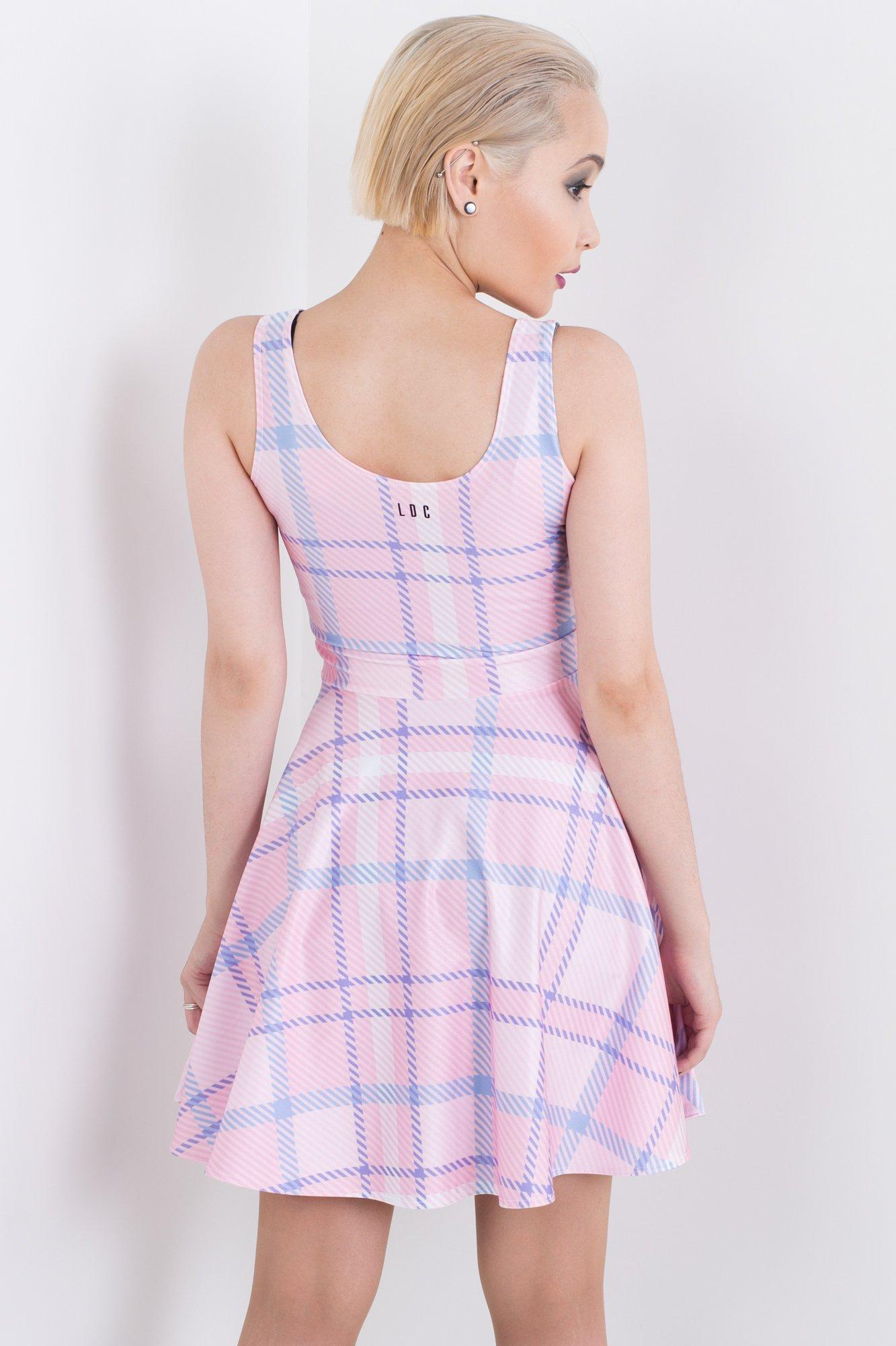 Candy Plaid Skater Dress