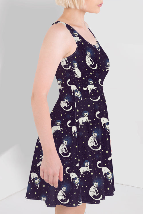 Catstronauts Skater Dress